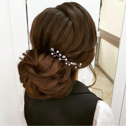 Свадебный макияж+причёска