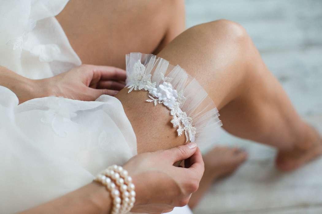 Подвязка 890 р.  Цвет айвори. - фото 17178692 Svetochek wedding - мастерская аксессуаров
