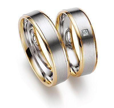 Обручальное кольцо с бриллиантом W0075