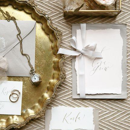 Комплект приглашений Royal gold
