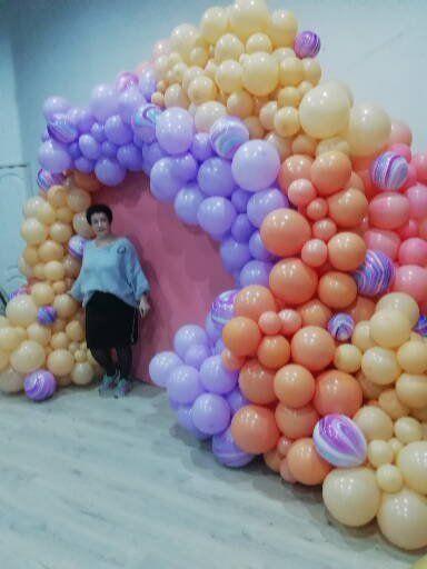 """Фото 18801126 в коллекции Гирлянды из шаров - """"На одном дыхании"""" - мастерская аксессуаров"""