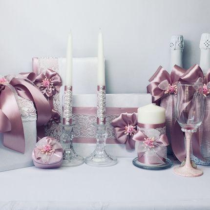 """Коллекция свадебных аксессуаров """"Розовый кварц"""""""