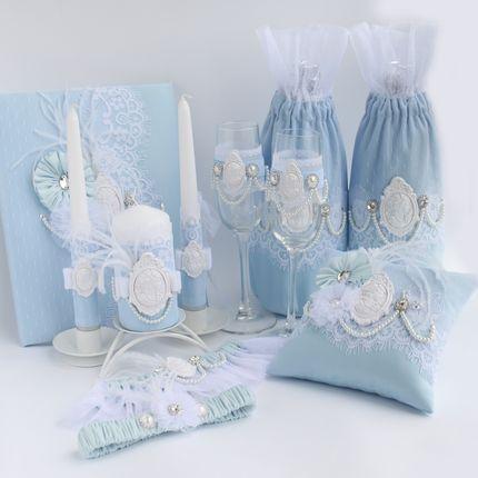 """Набор свадебных аксессуаров """"Vintage blue"""""""