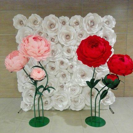 """Фотозона """"Белые розы"""" в аренду"""