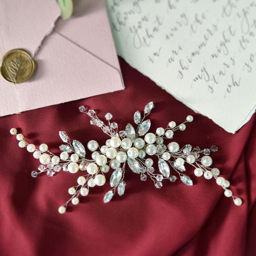 Свадебная веточка для волос 1650 руб. - фото 17548930 Екатерина Захарова - украшения для волос
