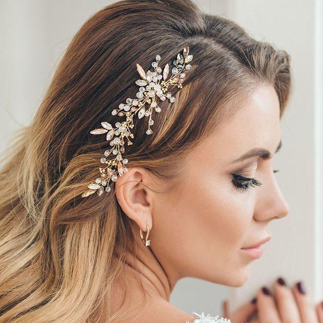 Свадебная заколка для волос 1950 руб. Золото - фото 17548944 Екатерина Захарова - украшения для волос