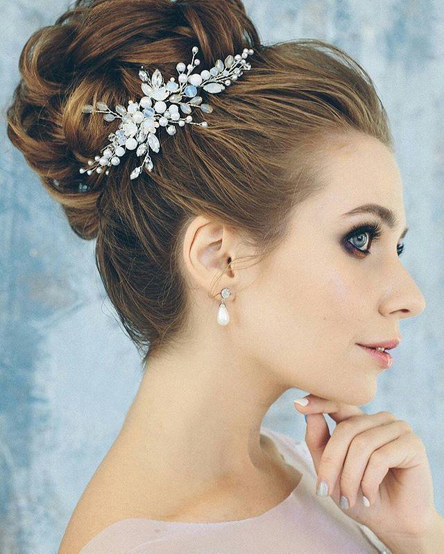 Свадебная веточка. Голубая - фото 17548952 Екатерина Захарова - украшения для волос