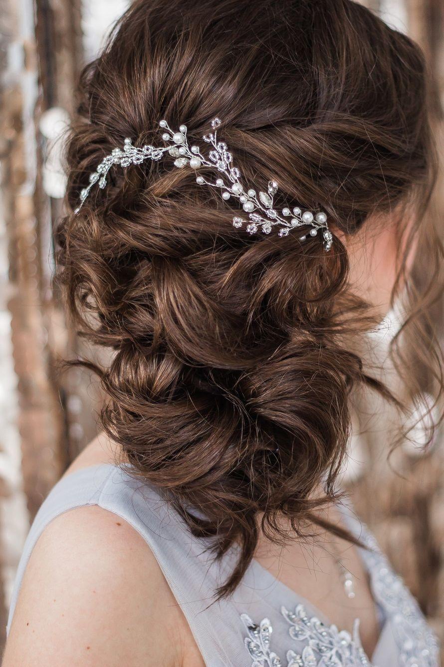 ВЕточка в прическу. Стоимость 1000 руб. - фото 17549108 Екатерина Захарова - украшения для волос