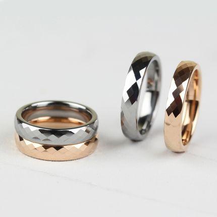 Геометрическое кольцо из карбида вольфрама (RT-G-0011, цвет металл)