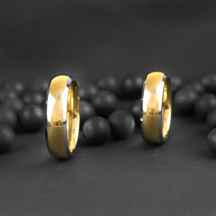 Кольцо из титан-вольфрама обручальное (R-TS-009)