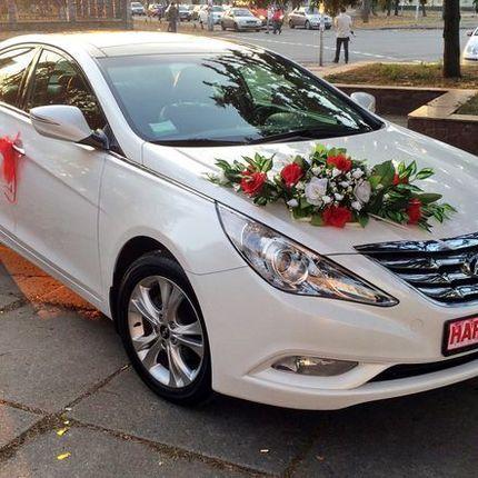 165 Hyundai Sonata белая в аренду