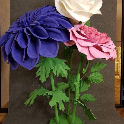 Ростовые цветы в оформлении