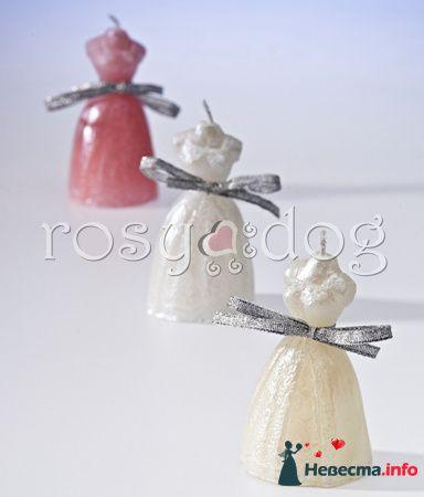 Свадебные свечи Невеста (белый, розовый, кремовый)