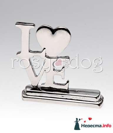 Держатель для рассадочных карточек LOVE - фото 87607 RosyDog – свадебные аксессуары из Америки и Европы