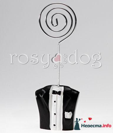 Держатель для рассадочных карточек Жених - фото 87609 RosyDog – свадебные аксессуары из Америки и Европы