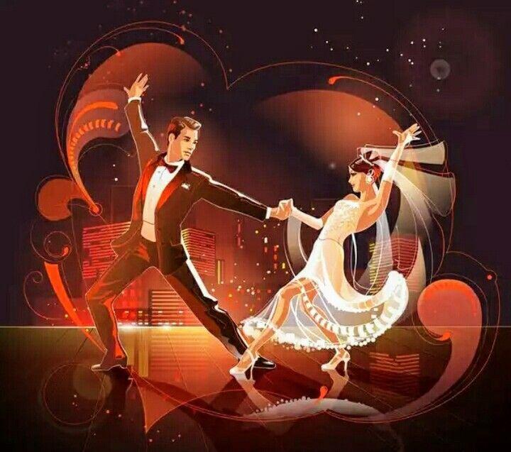 Танец на открытках