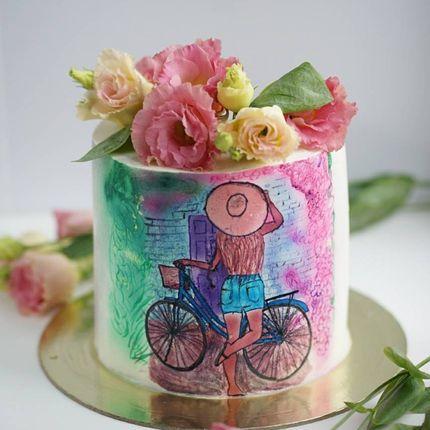 Росписной торт
