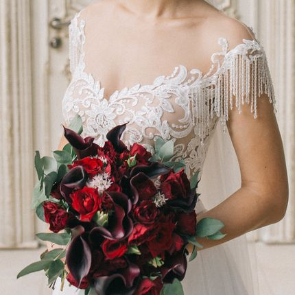 Букет невесты из сезонного цветка