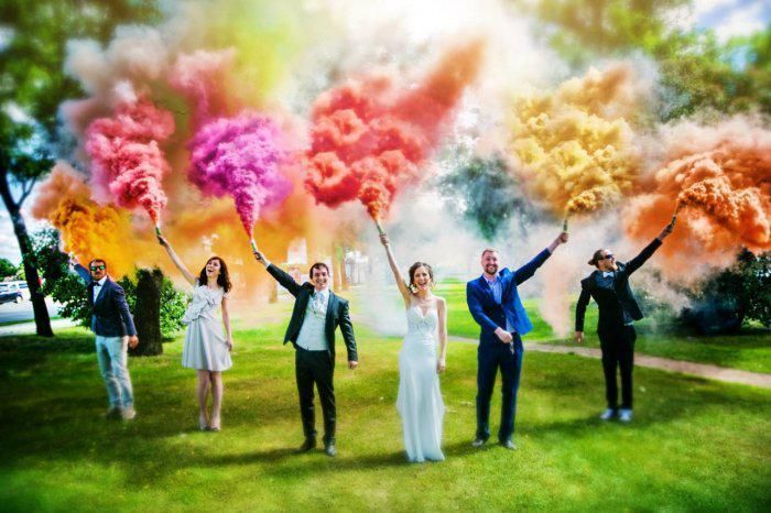Цветной дым Для МОЛОДОЖЕНОВ! - фото 18019912 Копания Dilver - цветной дым и меловые краски