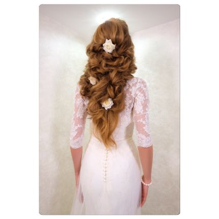 Греческая коса на свадьбу или вечерний образ