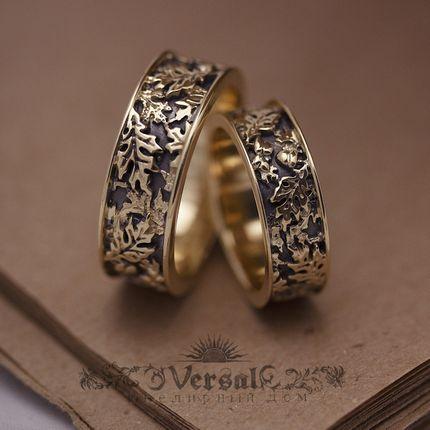 Парные обручальные кольца, артикул VGOK0197