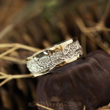 Парные обручальные кольца, артикул VGOK0123