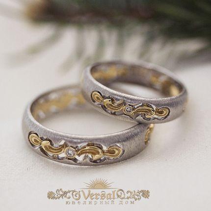 Парные обручальные кольца, артикул VGOK0138