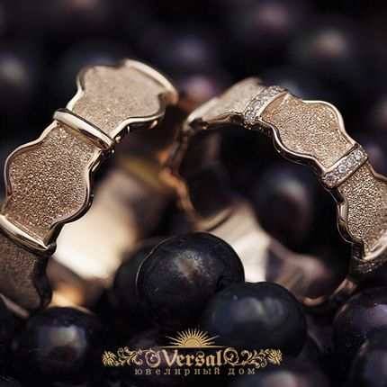 Парные обручальные кольца, артикул VGOK0184