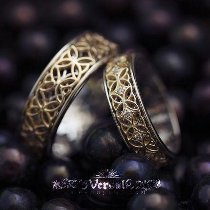 Парные обручальные кольца, артикул VGOK0078