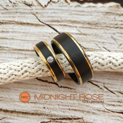 Черные дизайнерские обручальные кольца