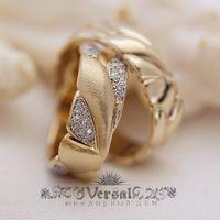Парные обручальные кольца со вставками