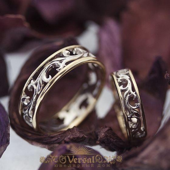 Парные обручальные кольца - кольцо для нее