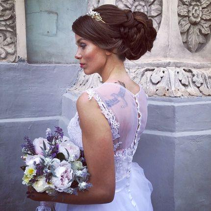Образ невесты - макияж + прическа