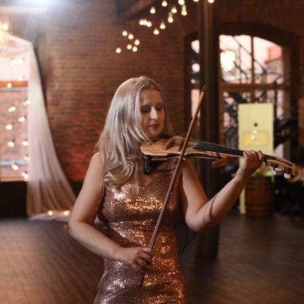 Выступление на электроскрипке