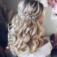 Прическа невесты для длинных волос