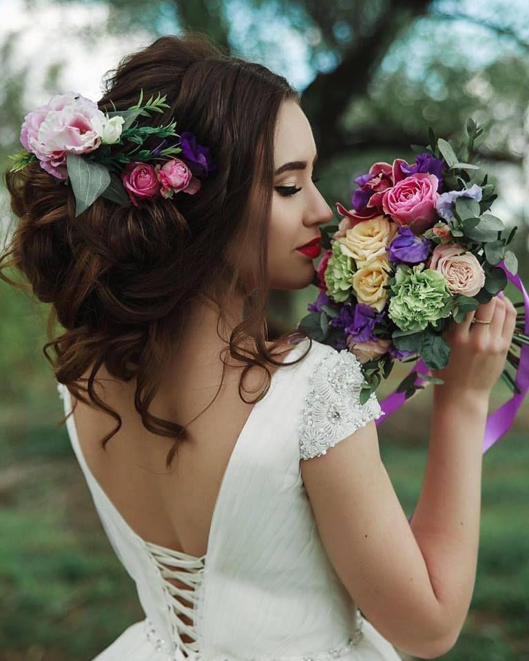 Полный образ невесты (макияж + прическа)