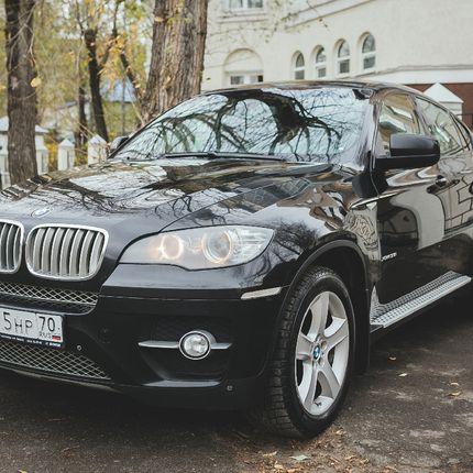 BMW X6, 2010г. черный в аренду, 1 час