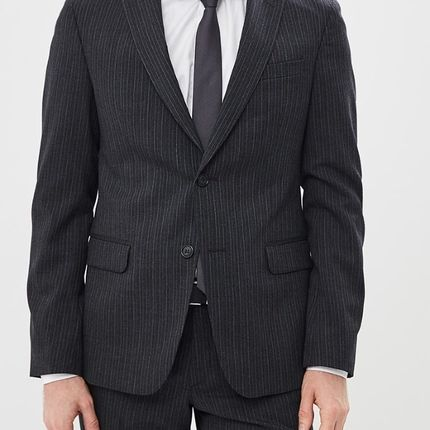 Мужской костюм в полоску синий