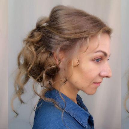 Причёска невесты - репетиция
