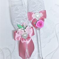Бокалы для молодожёнов в розовом цвете