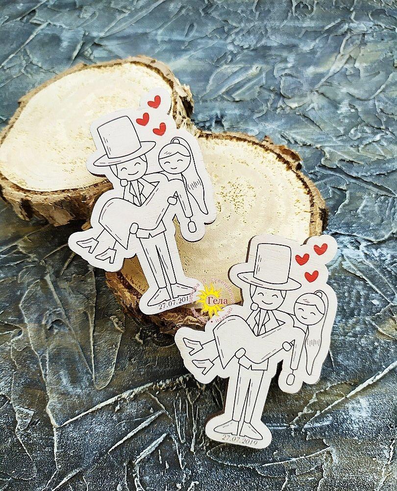 Фото 19053432 в коллекции Магниты на свадьбу - Гела - деревянные магниты