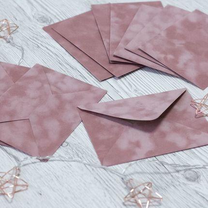 Бархатные флокированные конверты