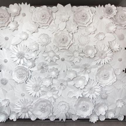 """Оформление фотозоны """"Белоснежные цветы"""""""
