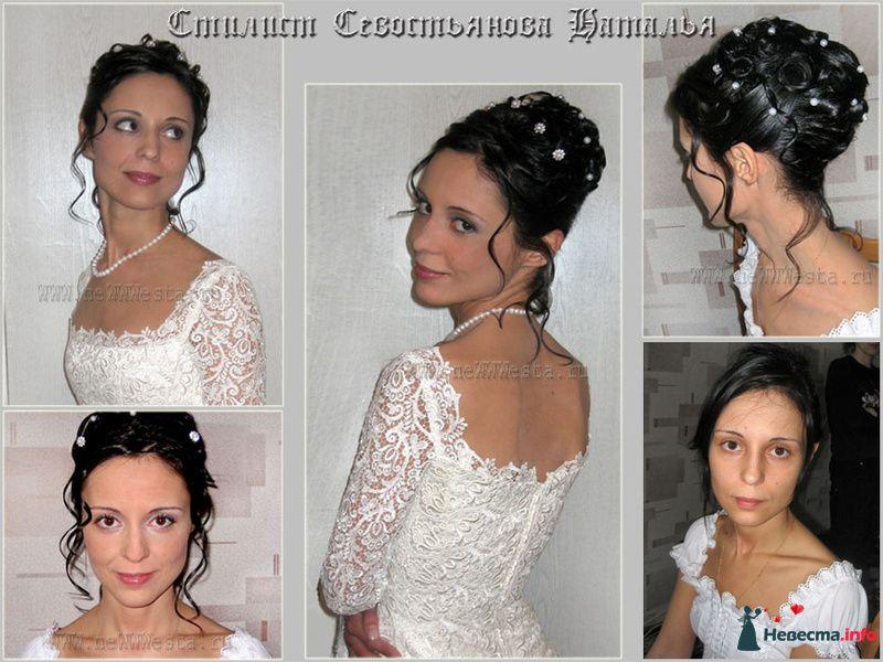 Прическа и макияж Алены (волосы средней длины) - фото 115652 Свадебный стилист-визажист Севостьянова Наталья