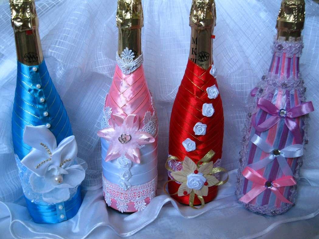 Украсить бутылку шампанского своими руками с фото 459