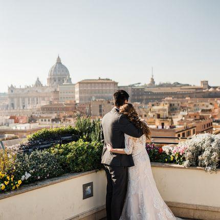 Организация символической церемонии с видом на Ватикан