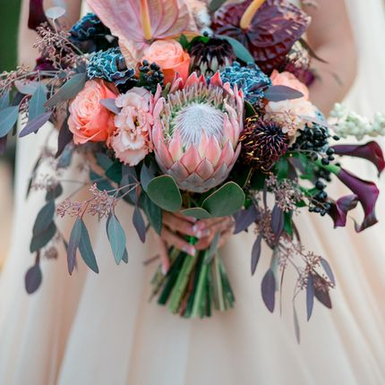 Букет невесты с экзотическим составом
