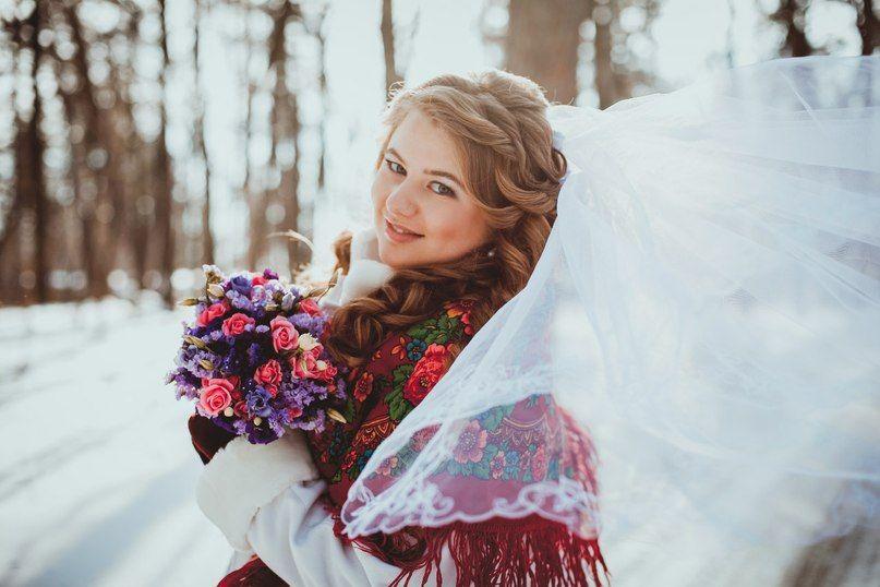 Алексей и Валерия. Зимняя свадьба в русском стиле - фото 886375 Юлия Рыбалка - флорист