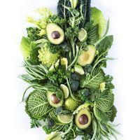 Композиция из овощей и зелени для праздничного стола