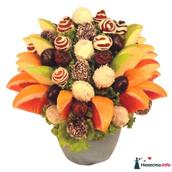 Букет из фруктов на фуршет - фото 110128 besol